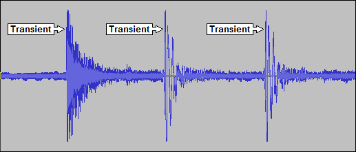 Waveform with Transients Annotated
